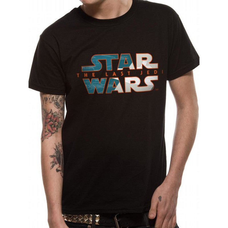 Star Wars 8 - Blueprint Logo Mask T-shirt