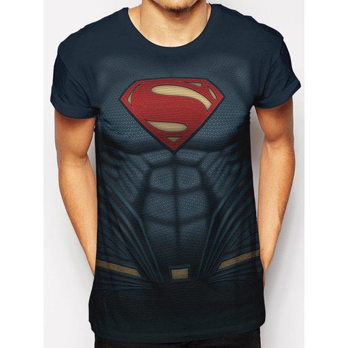 Superman Costume Sublimated T-shirt