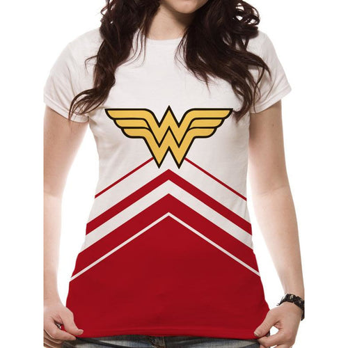 Wonder Woman - Cheerleader Logo Sublimated Fitted T-shirt