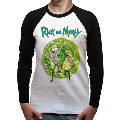 Rick And Morty | Portal Long-Sleeve Baseball Shirt
