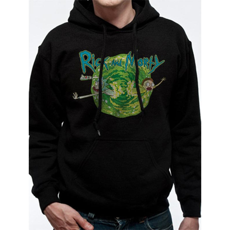 Rick And Morty | Black Portal Pullover Hoodie