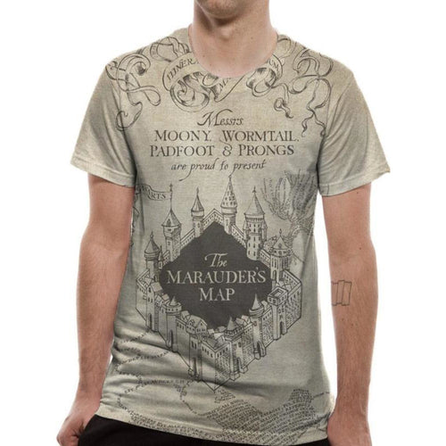 Harry Potter - Marauders Map Sublimated T-shirt
