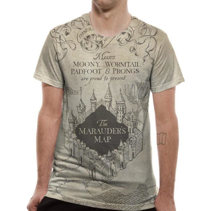 Harry Potter Marauders Map Sublimated T-shirt