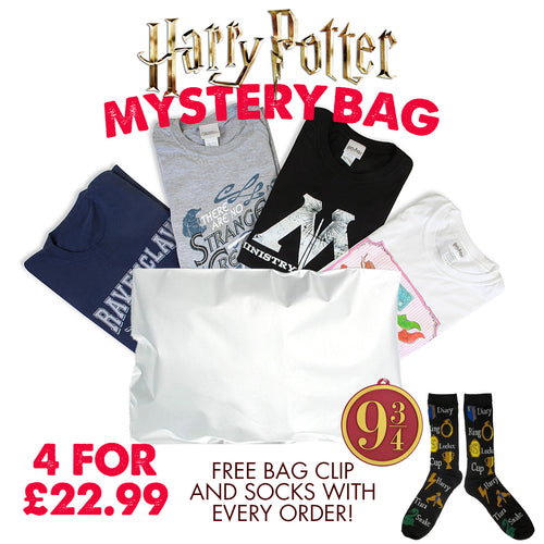 Harry Potter 4 T-Shirts + Socks and Luggage Tag