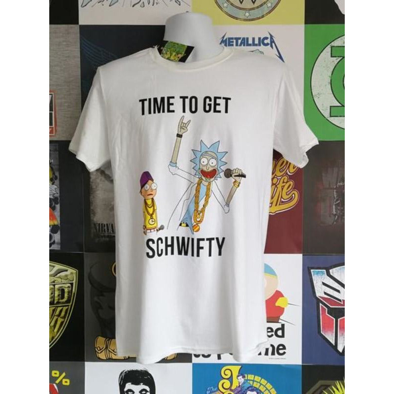 Rick and Morty Time to Get Schwifty White T-shirt