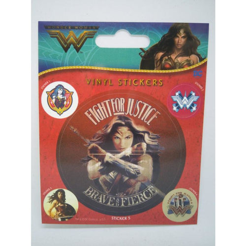 Wonder Woman Fight For Justice Vinyl Sticker
