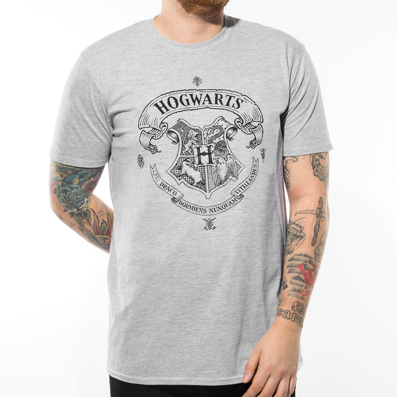 Harry Potter | Hogwarts One Colour T-Shirt Sports Grey