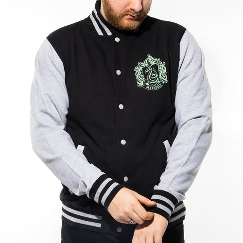 Harry Potter | Collegiate Slytherin Varsity Jacket