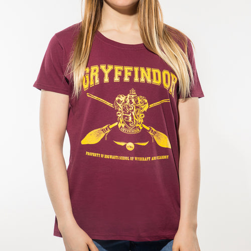 Harry Potter - Collegiate Gryffindor Fitted T-Shirt