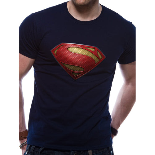Buy Man Of Steel (Textured Logo) T-shirt online at Loudshop.com