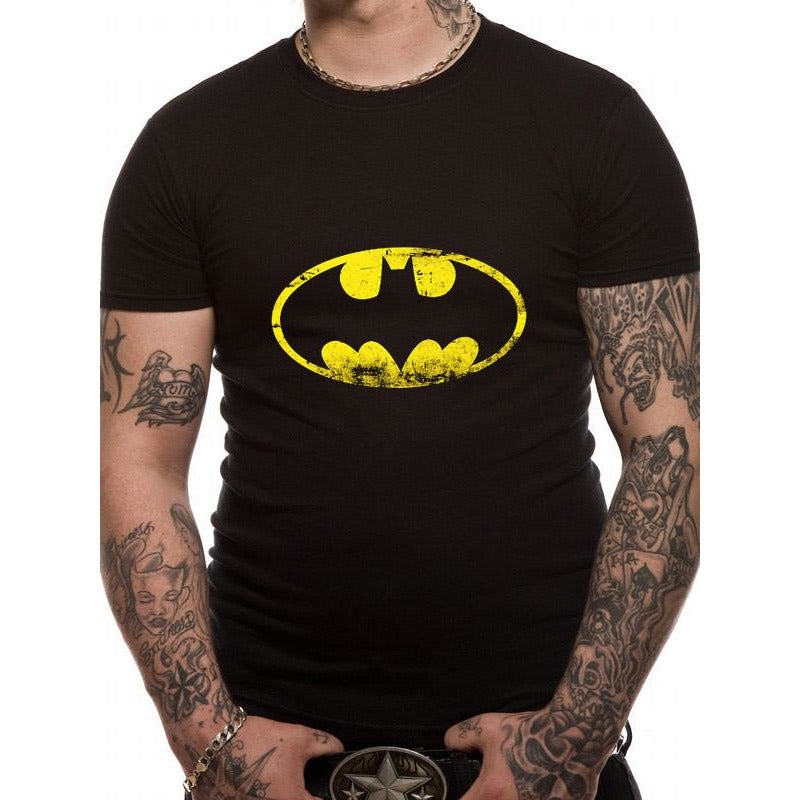 Buy Batman (Distressed Logo) T-shirt online at Loudshop.com