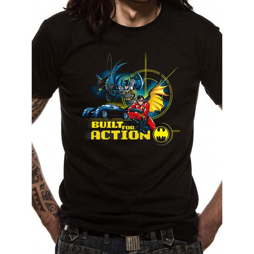 Buy Batman & Robin (Built For Action) T-shirt online at Loudshop.com