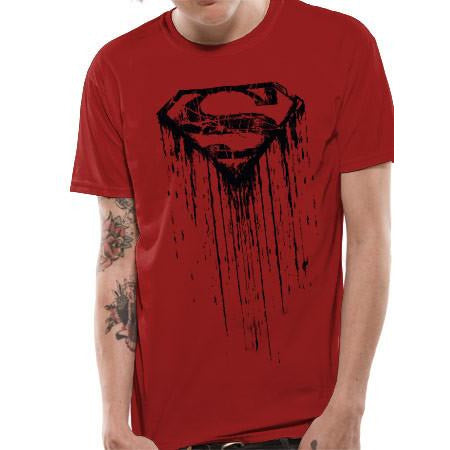 Buy Superman (Dripping) T-shirt online at Loudshop.com