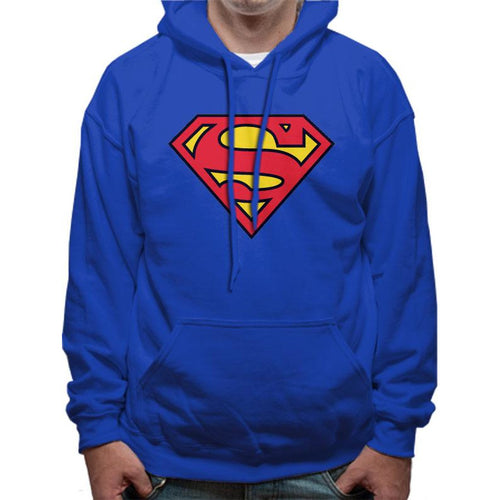 Superman | Logo Pullover Hooded Sweatshirt