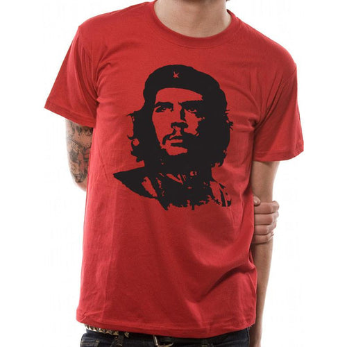Buy Che Guevara (Red Face) T-shirt online at Loudshop.com