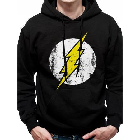 The Flash | Logo Black Pullover Hoodie
