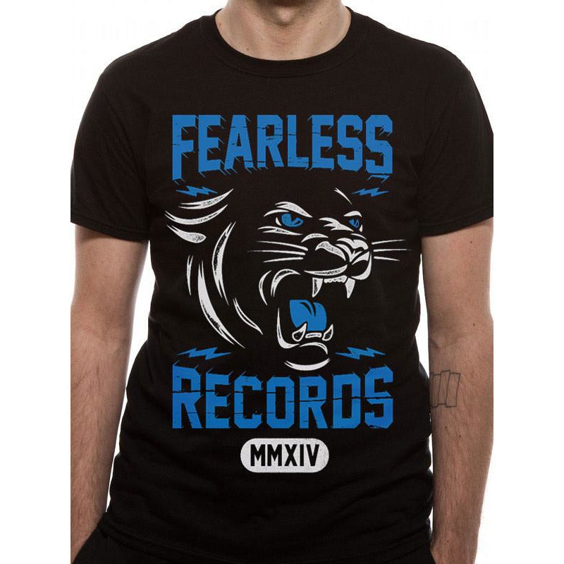 Buy Fearless Records (Cougar) T-shirt online at Loudshop.com