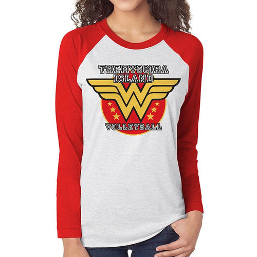 WONDER WOMAN - VOLLEYBALL Baseball Raglan