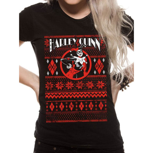Harley Quinn - Fair Isle Fitted T-shirt