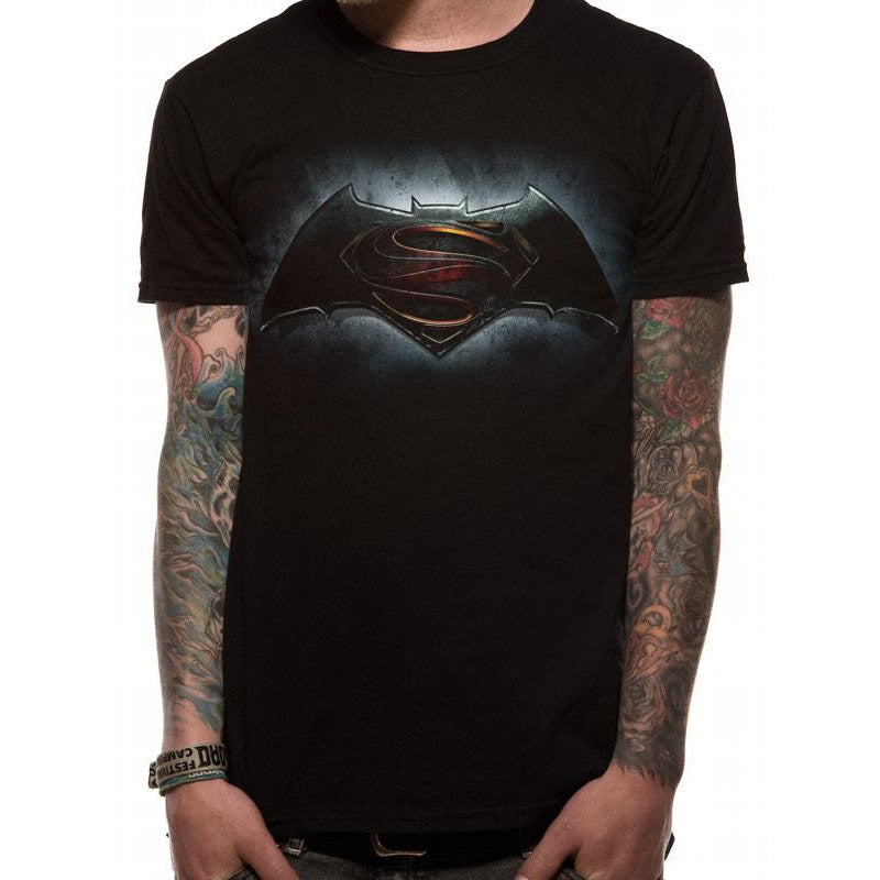 Batman V Superman | Logo T-Shirt Black T-Shirt