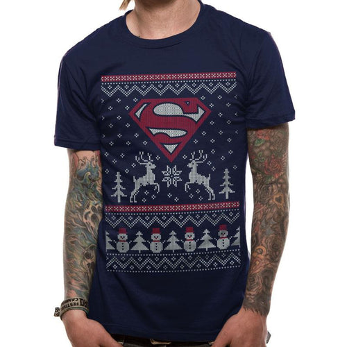 Superman | Reindeer And Snowman T-Shirt