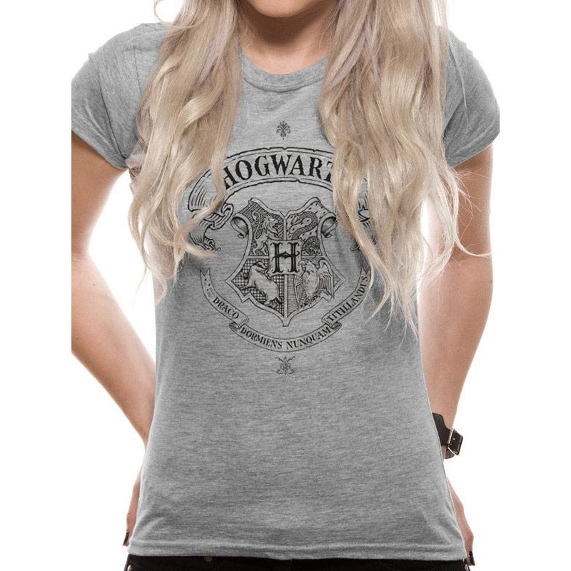 Harry Potter - Hogwarts One Colour Fitted T-shirt