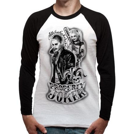 Suicide Squad - Property Of Long-Sleeve Baseball Shirt