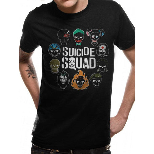 Suicide Squad - Logo and Icons T-shirt