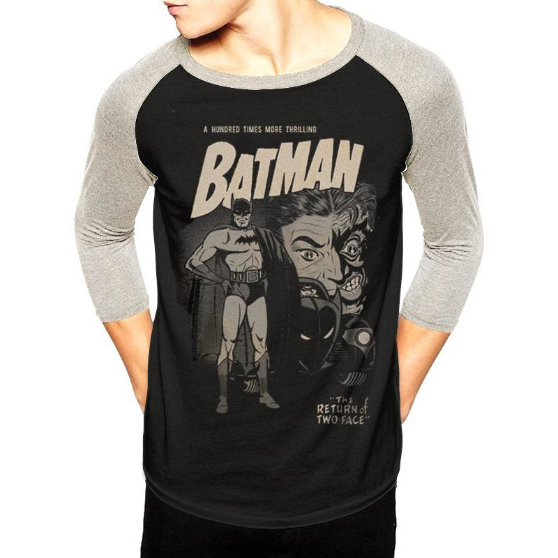 Batman (Two Face) Baseball shirt