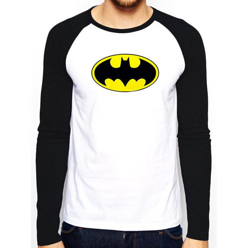 Batman - Logo Long-Sleeve Baseball Shirt