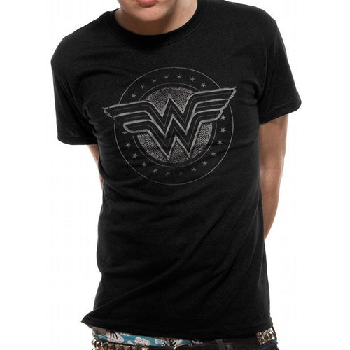WONDER WOMAN - CHROME LOGO T-shirt