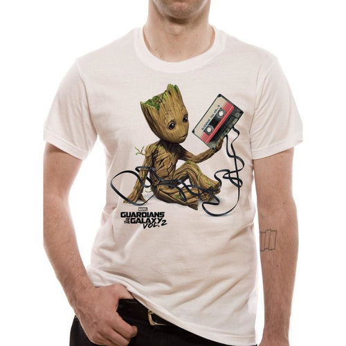 Buy Guardians Of The Galaxy Vol 2 (Groot & Tape) T-shirt online at Loudshop.com