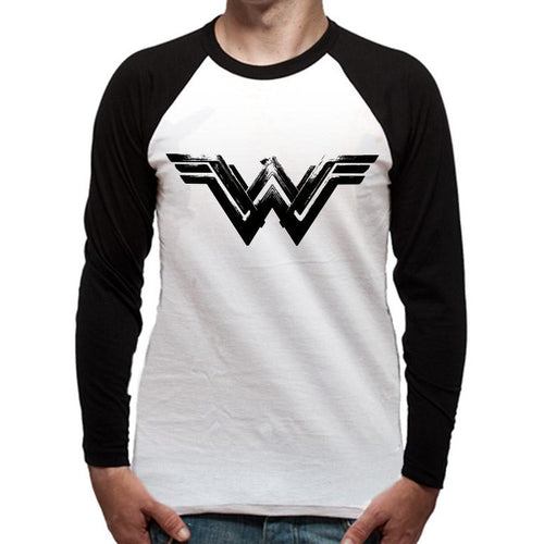 Buy Wonder Woman Movie (Black Logo) Baseball Shirt online at Loudshop.com