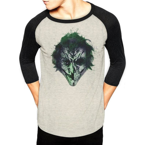 Batman - Joker Face Art Baseball Shirt