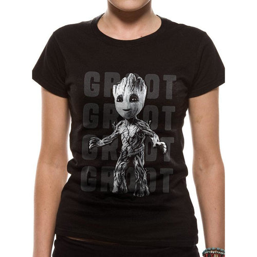 Guardians Of The Galaxy Vol 2 Groot Photo Fitted Tshirt Fitted Tshirt