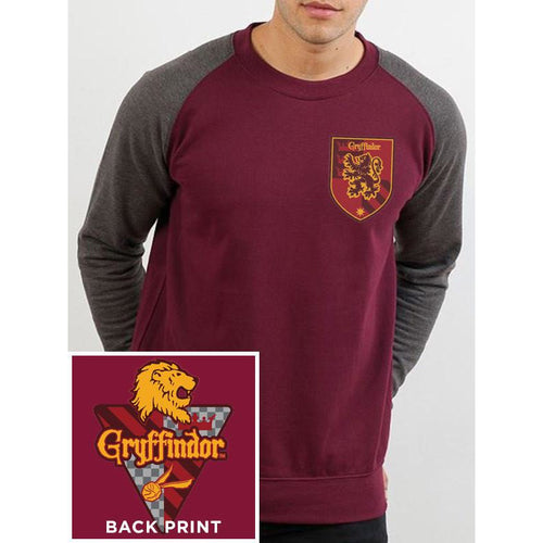 Buy Harry Potter (House Gryffindor) Baseball Sweatshirt online at Loudshop.com
