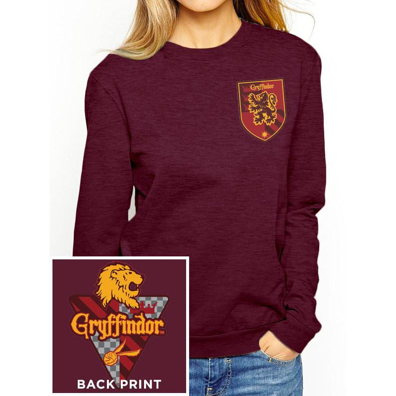 Harry Potter (House Gryffindor) Fitted Crewneck Sweatshirt