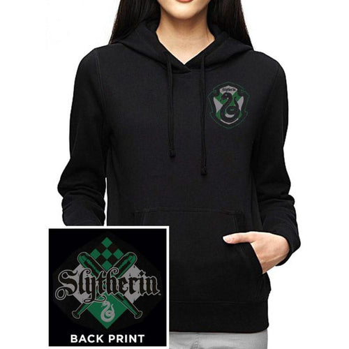Harry Potter | House Slytherin Fitted Hooded Sweatshirt