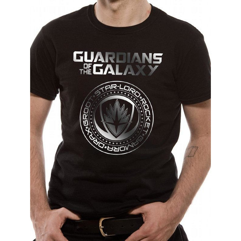 Guardians Of The Galaxy Vol 2 | Crest Silver Foil T-Shirt