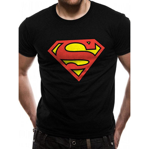 Superman - Logo On Black T-shirt