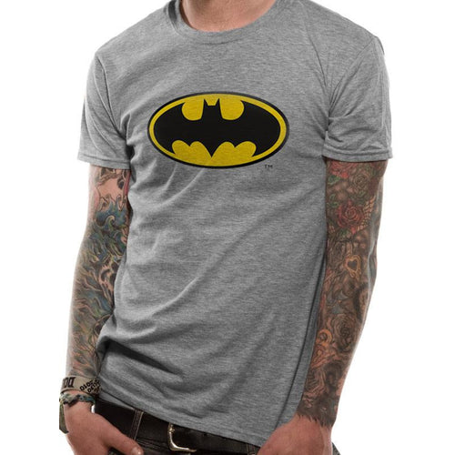Batman - Logo Grey T-shirt