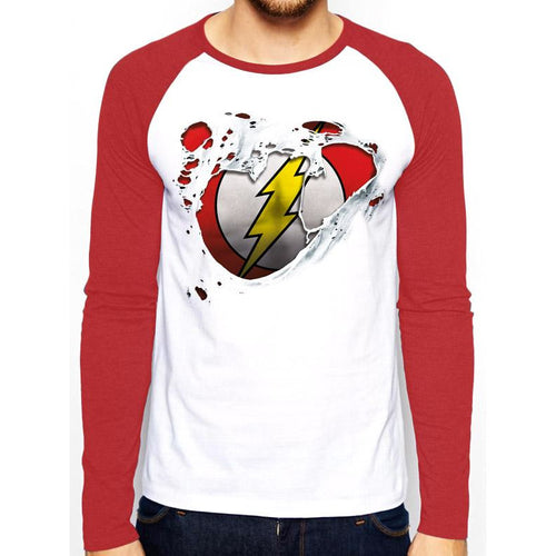 The Flash | Torn Logo Baseball Shirt
