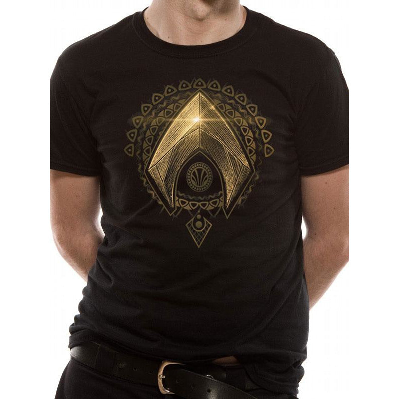 Buy Justice League Movie Aquaman Symbol T Shirt At Loudshop For