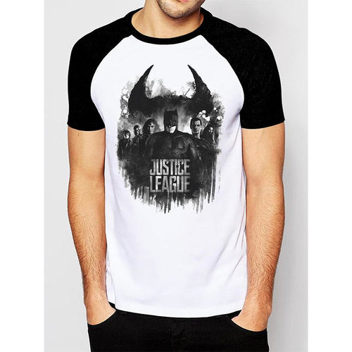 Justice League Movie - Group And Logo Raglan