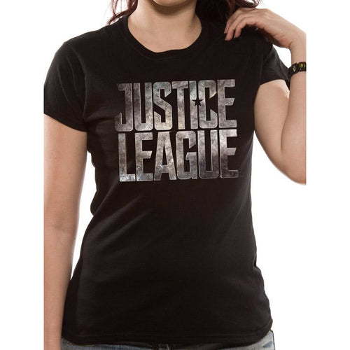 Justice League Movie - Logo Fitted T-Shirt