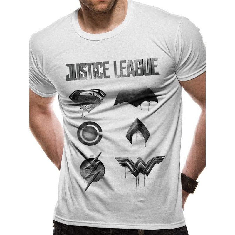 Justice League Movie - Logo and Symbols T-shirt