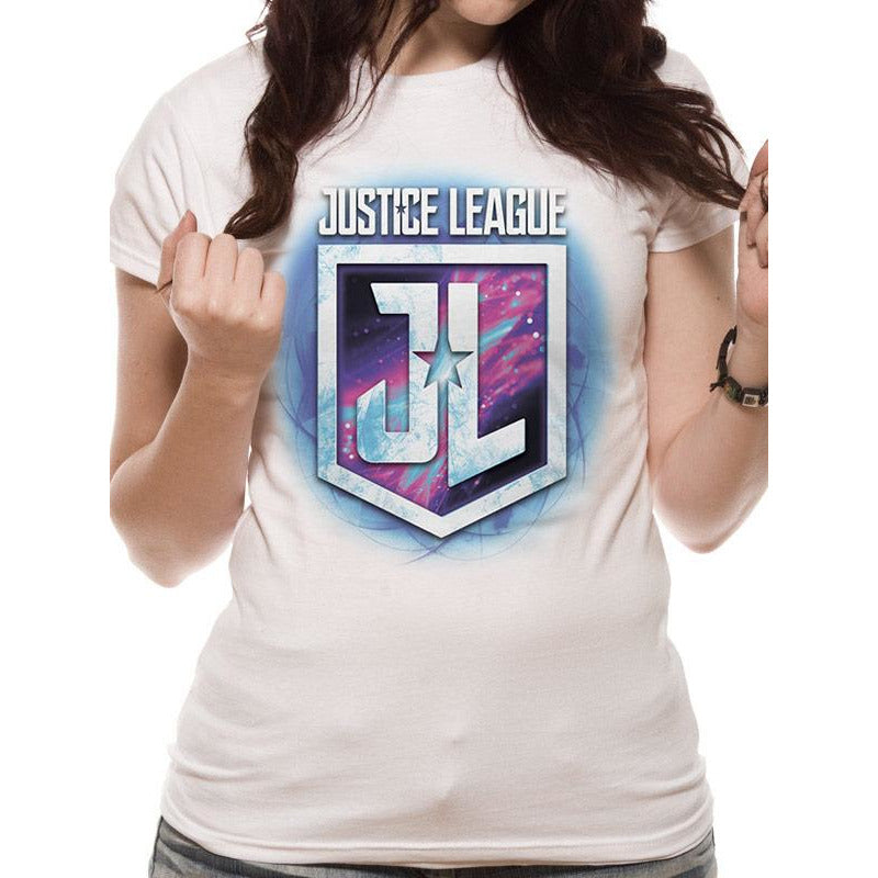 Justice League Movie | Purple Shield Fitted T-Shirt