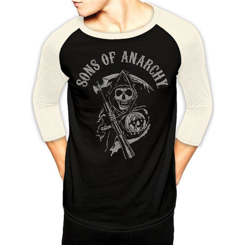 Sons Of Anarchy - Reaper Logo Baseball Shirt