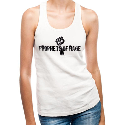 Prophets Of Rage - White Stencil Fist Fitted Vest