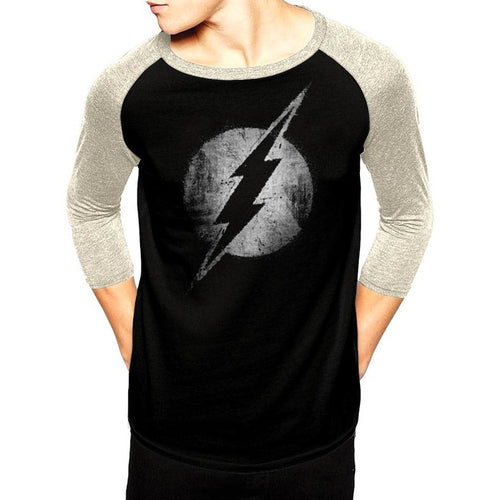 The Flash | Mono Distressed Baseball Shirt
